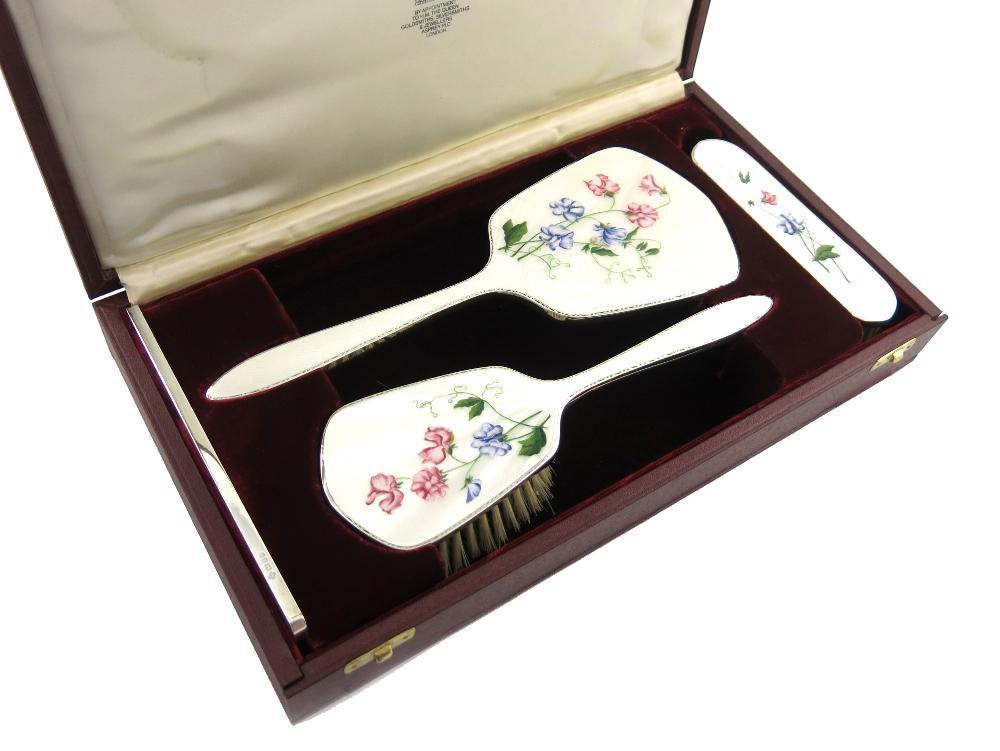 Enamel Dressing Table Set, Dressing Table Set Mirror Brush
